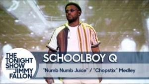 "Schoolboy Q Debuts ""chopstix"" On The Tonight Show"